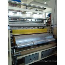 Extrusora de plástico de línea de estiramiento de película fundida