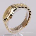 Relógio traseiro de aço inoxidável de quartzo para mulheres