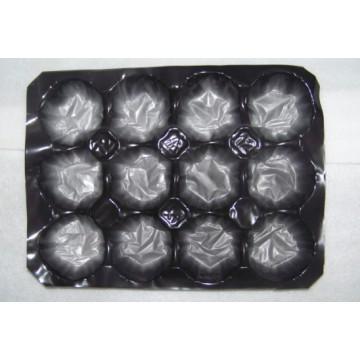Insertion alvéolaire de doublure de plateau de grenade d'hexagone de pp de catégorie comestible noire