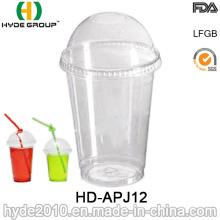 12oz Transparent Disposable Pet Cup, Disposable Cup with Lid