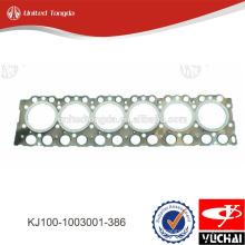 KJ100-1003001-386 yuchai прокладка головки блока цилиндров для YC6K