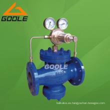Válvula reductora de presión de gas de pistón piloto (YK43F / H-GVPR08)