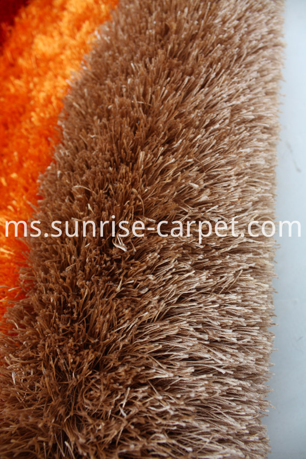 Polyester Thick Yarn Design Rug Orange