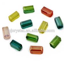 Perlas de cristal chino cuentas al por mayor rectángulo