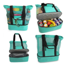 Summer Beach Camping Ice Jute Tote Bag Lunch Ice Pack Picnic Insulation Cooler Bag