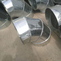 Galvanized plate spiral elbow para sa ventilating pipe joint