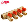 Hot sale forging brass manifold 2ways