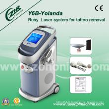 Puissant Qswitch ND YAG Machine de démoulage laser Y6b