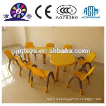 JQP4412 Kids mesa de plástico y silla de juguete de los muebles baratos