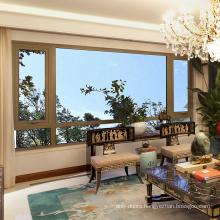 Burglar Proof Casement Window,Bangladesh Windows Aluminum Bronze Color Window