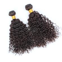 Extensión rizada rizada brasileña creativa del pelo humano de la Virgen Remy del pelo brasileño
