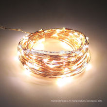 Lampe de décoration de maison de fête de mariage 20 lumières de Noël de leds Lumière de fée de fil de cuivre de la chaîne 2M LED d'intérieur