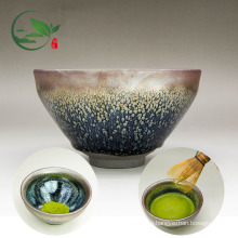 Handmade Custom Logo Traditional Chinese Rabbit Hair Ceramic Matcha Chawan Bowl