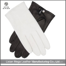 Venta al por mayor Hombres italianos Thin Oficial vestido de color blanco guantes de cuero