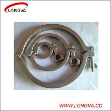 Fixation de tuyaux sanitaires en acier inoxydable Tri Clover Clamp