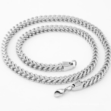 Fashion Gold Black Silver Jewelry 316L Stainless Steel Jewelry Necklace Titanium Steel Electroplated Polished Men's Necklace