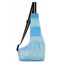 Cross-border new product cat and dog travel blue breathable mesh crossbody pet backpack