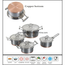 Copper Bottom Cookware Stainless Steel Hot Pot Set