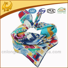 fashion lady 100 silk satin square scarf
