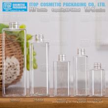 Serie K TB 60ml 100ml 120ml 250ml 500ml clásica de una sola capa útil color inyección soplado botella cuadrada para mascotas