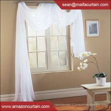 Vente en gros New American Classic design Écharpe solide rideau transparent