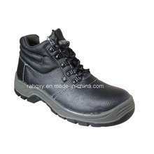 Professional Black Split Embossed Leather Safety Shoes (HQ01006)