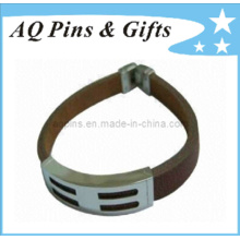 Leather Wristbands with Buckle and Clasp