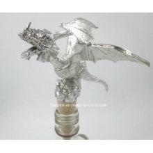 Metall Handwerk Weinflasche Stopper, Silber Wein Flasche Stopper