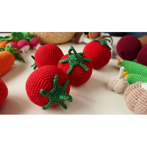 Venta al por mayor Super Soft Crochet Toy Vegetable Handmade