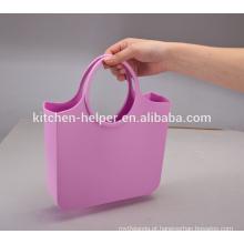 China fabricante profissional de alta qualidade preço de fábrica Silicone impermeável Jelly Candy cor silicone senhora bolsa de silicone