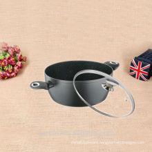 New customized glass lid aluminium soup pot