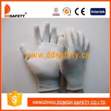Nylon Polyester Gloves PU Coating on Palm and Fingers Dpu219