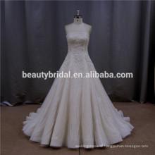 Chic floor-length drop waist line hot couture wedding dress