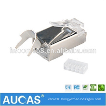 cat7 FTP Two pieces network connector modular plug / AUCAS stranded solid shielded RJ45 plug