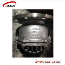 Pn16 CF8 Нержавеющая сталь для сантехнического фланца Ножной клапан водяного насоса