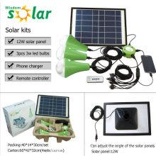 Lámparas solares con cargador USB con control remoto venta caliente