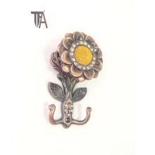 Gancho decorativo da cortina do projeto da flor (TF 1755)