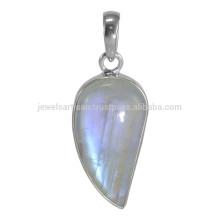 Кричащий Радужный Лунный камень драгоценных камней & 925 стерлингового серебра милые Подвеска по лучшей цене