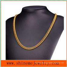 Europeos y americanos caliente-vendiendo collar de cadena gruesa tejida doble collar hombres (NL2619)