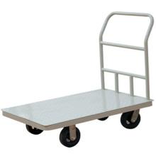 Roda de borracha de 5 polegadas de múltiplos propósitos e niquelado identificador handtruck/mão empurrar carrinho