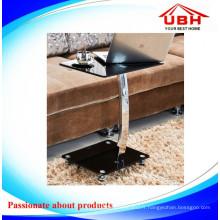 Table basse en verre en métal