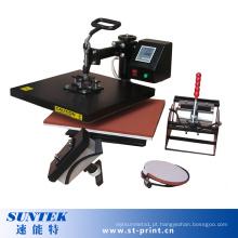 4 em 1 máquina de sublimação de t-shirt de transferência de cor único Digital