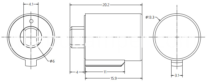 Table Sockets Shaft Damper Drawing