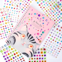 Factory Custom Body Crystal Sticker,Self Adhesive Face Rhinestone Stickers