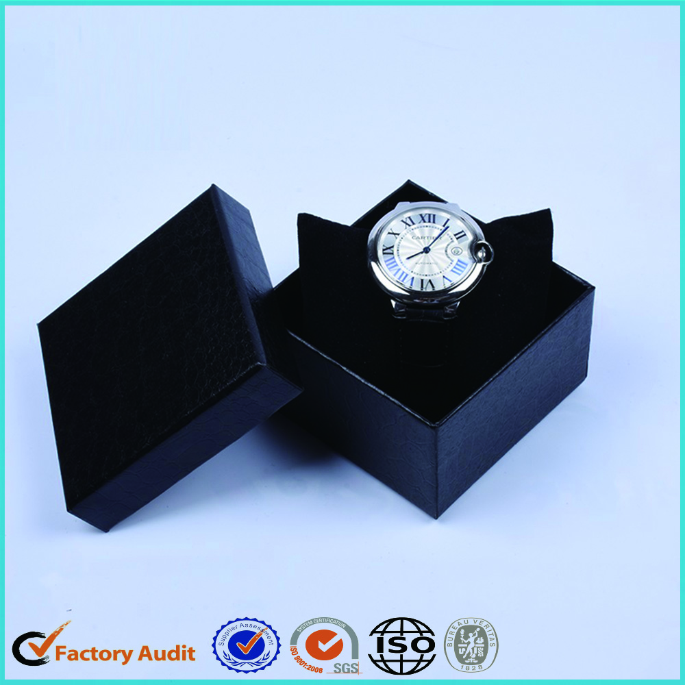 Luxury Black Watch Paper Box With Pillow Case