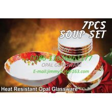 Opalescent Glass Seven-head Dinnerware Set