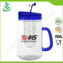16oz personalizó el tarro de albañil con Infuser, BPA-libre (IB-A5)