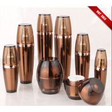 Hot Sale Amber Acrylic Lotion Bottles with Jars (EF-C02)