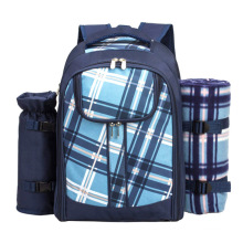 Picnic bag set Cooler Compartment with Blanket Picnic Backpacks for 4