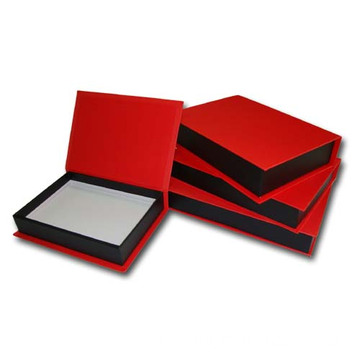 Rectangle Book Hinged Jewelry Packaging Box Dengan Magnet